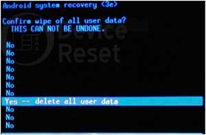 Acer Liquid M330 hard reset