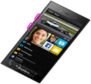 Blackberry Z3 reset