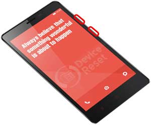 Xiaomi Redmi Note 2 hard reset