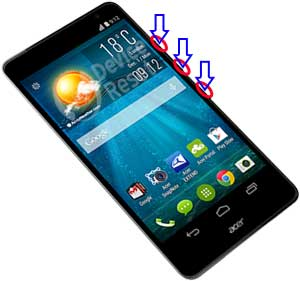 acer liquid x1 hard reset