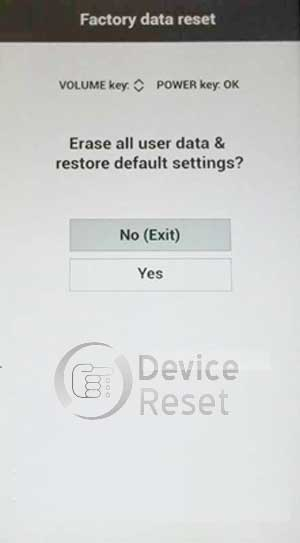 how to hard reset LG X5 smartphone
