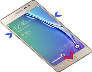 Samsung Z3 hard reset