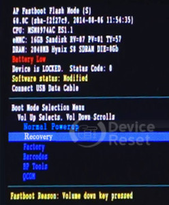 Motorola RAZR D3 XT919 hard reset