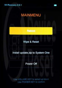 Xiaomi Redmi Note Hard Reset