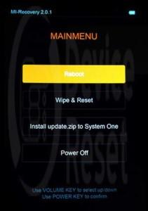 Xiaomi Mi Note Pro Hard Reset