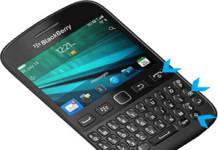 BlackBerry 9720 hard reset