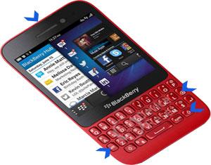 BlackBerry Q5 hard reset