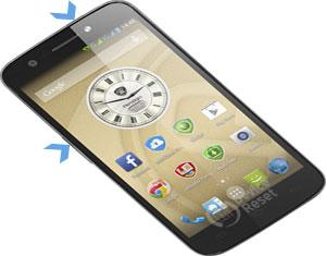 Prestigio MultiPhone 5508 Duo hard reset