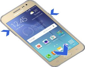 Samsung Galaxy J2 hard reset