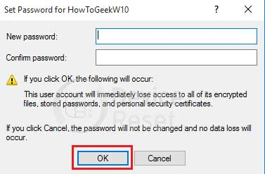 windows 10 new password