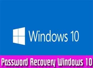 windows 10 password recovery