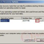 windows 7 recovery options