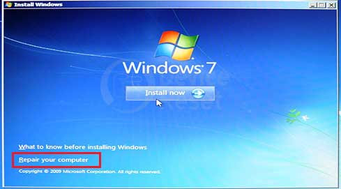 windows 7 setup page