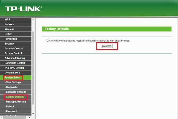 tp link wifi router setting