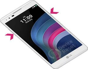 how to hard reset LG X5