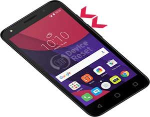 how to hard reset alcatel Pixi 4 (5) smartphone
