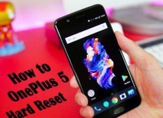 OnePlus 5 hard reset