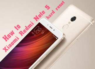 xiaomi redmi note 5 hard reset