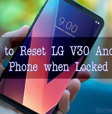 How to Reset LG Phone when Locked Out - LG V30