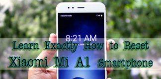 Xiaomi Mi A1 hard reset
