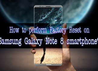Samsung Galaxy Note 8 hard reset